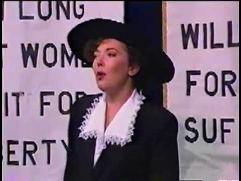 Forty-five minute version of FIRST VOTE, a musical about women's suffrage in Delaware