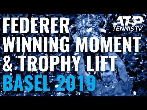 Roger Federer Winning Moment, Trophy Lift & Crying! | Basel 2019