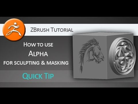 Quick Tip Tutorial: How to use Alpha for sculpting and masking in ZBrush
