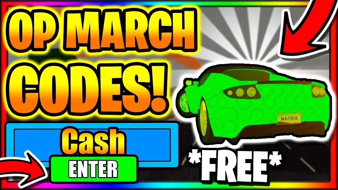 March 2020 All New Secret Op Working Codes Roblox Vehicle Simulator Youtube