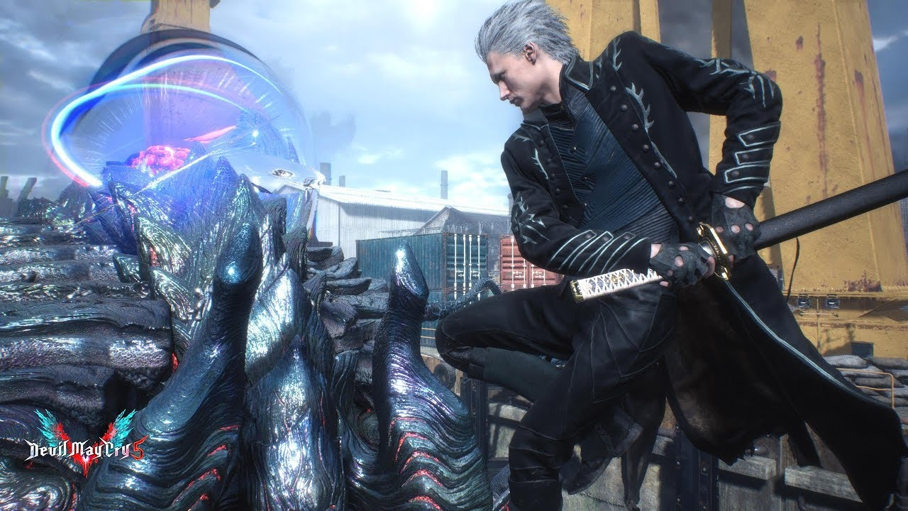 Devil May Cry 5 - Vergil Mission 6 [Steel Impact Boss Fight] - YouTube
