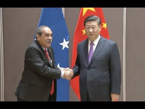 Chinese President Meets Federated States of Micronesia's President