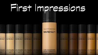 FIRST IMPRESSIONS | BARE MINERALS BARE SKIN LIQUID FOUNDATION | REVIEW & DEMO