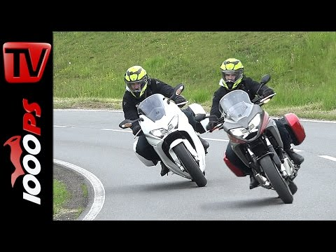 Honda VFR 800 F vs. VFR800X Crossrunner Test 2016 | Safety & Fun Adventure