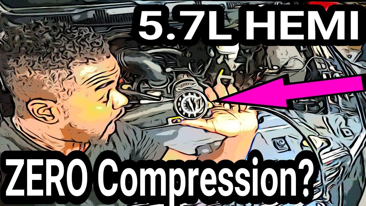 How to do a COMPRESSION test on a 5 7L HEMI  P0300, misfire, P0306, Valve  seats