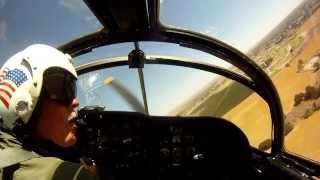 A1-E Skyraider cockpit video