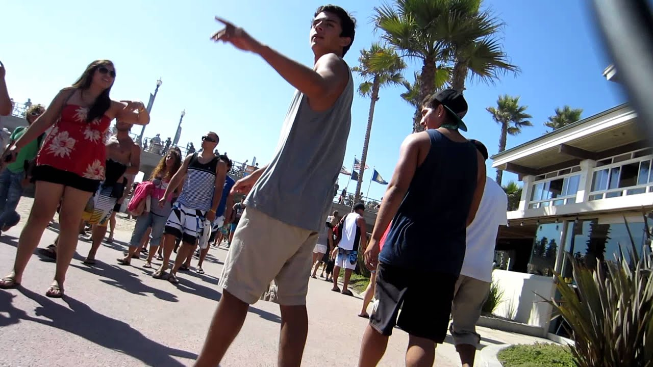 In Out Board >> HUNTINGTON BEACH At The Board Walk Pier - YouTube