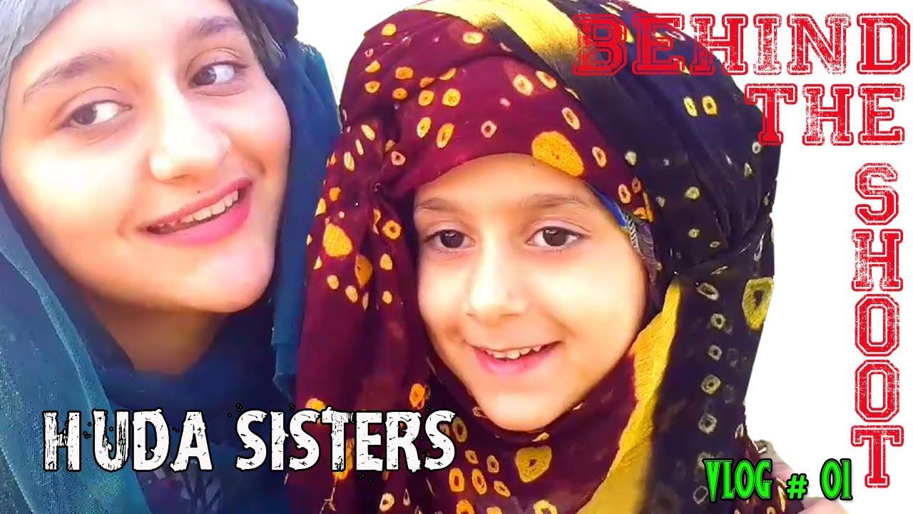 Behind the shoot   Huda Sisters   VLOG # 1