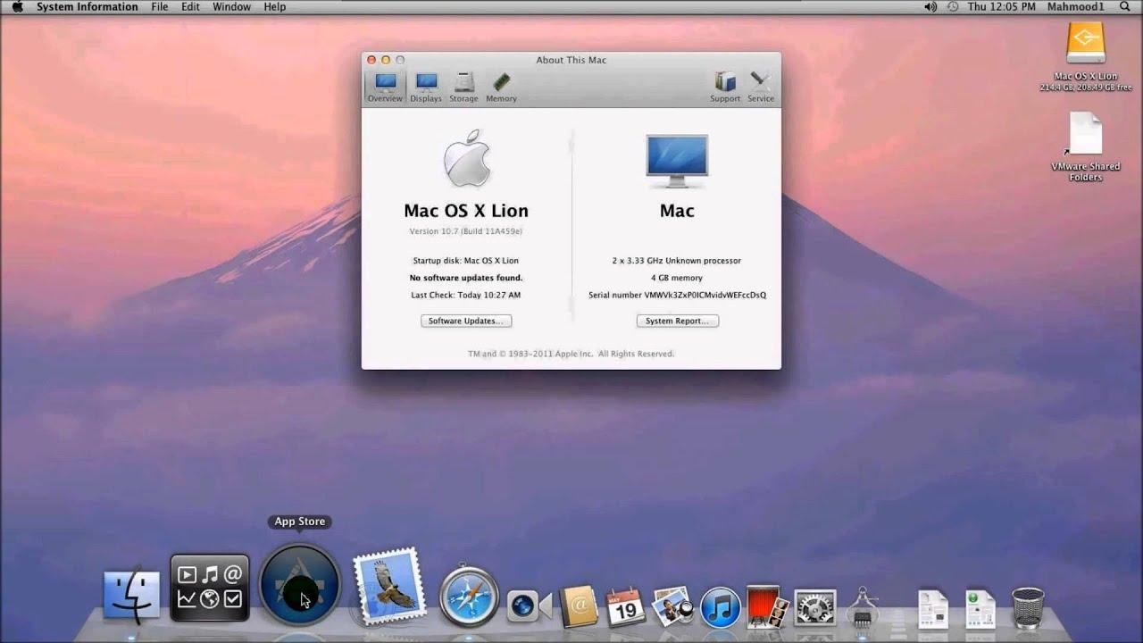 Afbeeldingen van Vmware mac os x for windows
