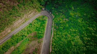 Descending the Aburi Mountain road with Dji's phantom 4 [2016]