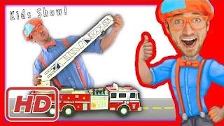 Blippi Toys Fire Trucks for Children | FIRE TRUCK SONG