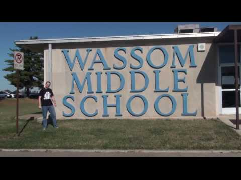 Mr. Peace Visits Wassom Middle School In Fort Campbell, Kentucky