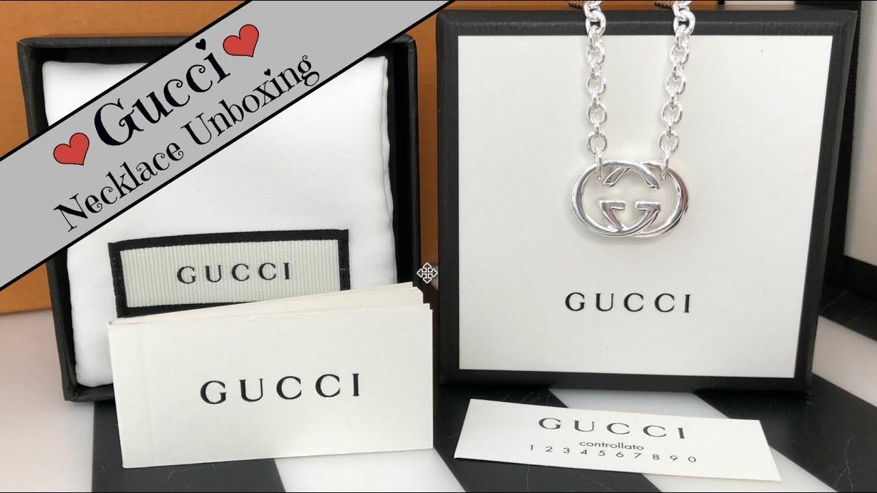 ca9dca9fe Gucci Jewellery Unboxing | Britt/Interlocking G Necklace in Sterling Silver