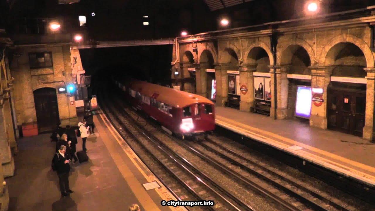 The London Underground 1938 Stock Tube Heritage Train In -5896