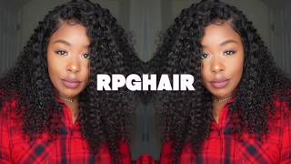 180% Thick density 360 curly lace front wig ft. Rpghair.com