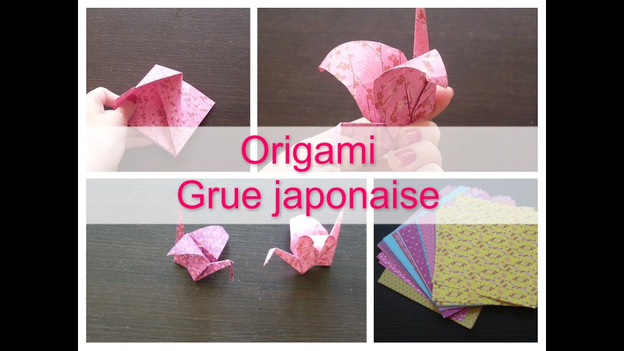 origami n 1 grues japonaise youtube. Black Bedroom Furniture Sets. Home Design Ideas