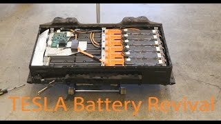 Reviving a Tesla Electric Car Dead Battery