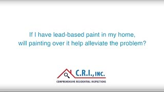 Can I paint over lead-based paint?
