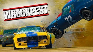 INSANE CAR CRASH! - Wreckfest with The Crew!