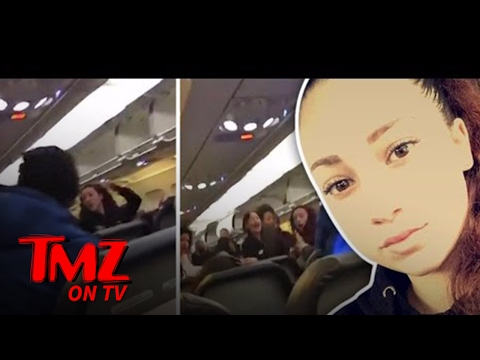 """Cash Me Ousside"" Girl Slugs an Airline Passenger! 