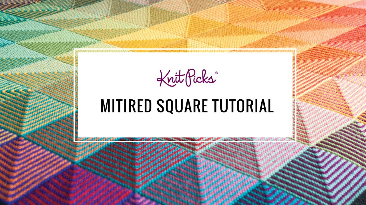Learn to Knit a Mitered Square - YouTube