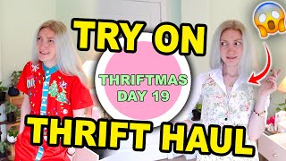 SUMMER TRY-ON THRIFT HAUL (coz Christmas is HOT in Australia 😰) THRIFTMAS DAY 19