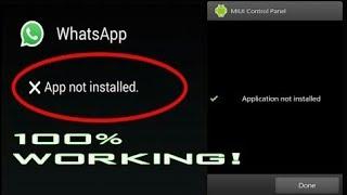 comment régler le problème application non installé sur android