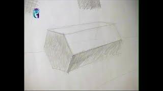 Repeat youtube video Уроки рисования (№ 2) карандашом. Рисуем призму