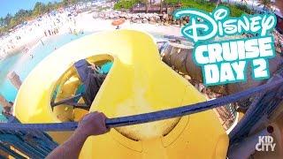 Disney Cruise Adventure Day 2! FREEZING Waterslide & Fun Family Vacation