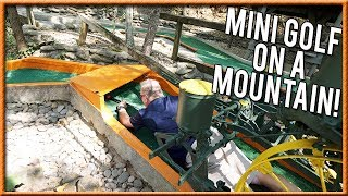 PLAYING MINI GOLF ON THE SIDE OF A MOUNTAIN! | Brooks Holt