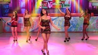 reto de baile  corazon serrano hizo bailar a las chicas de calle 7