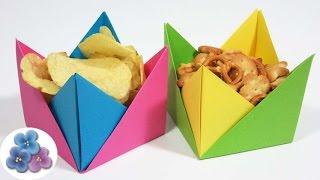 Origami Fácil: Manualidades Utiles Platos Desechables de Papel/Cuencos de papel Pintura Facil