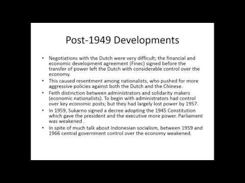 Economic Change in Modern Indonesia, SOAS University of London