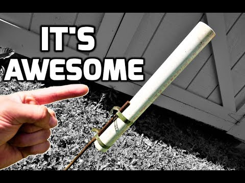 The BEST Homemade Fishing Rod Holders (for Bank Fishing) - DIY Rod Holder - STRONG & SIMPLE