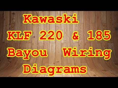 KLF 185 & 220 Bayou Wiring Diagrams - YouTube Kawasaki Klf Wiring Schematic on kawasaki wiring diagrams, kawasaki parts diagram, kawasaki klf 300 4x4, kawasaki bayou 220 wiring, bayou 220 wiring schematic,
