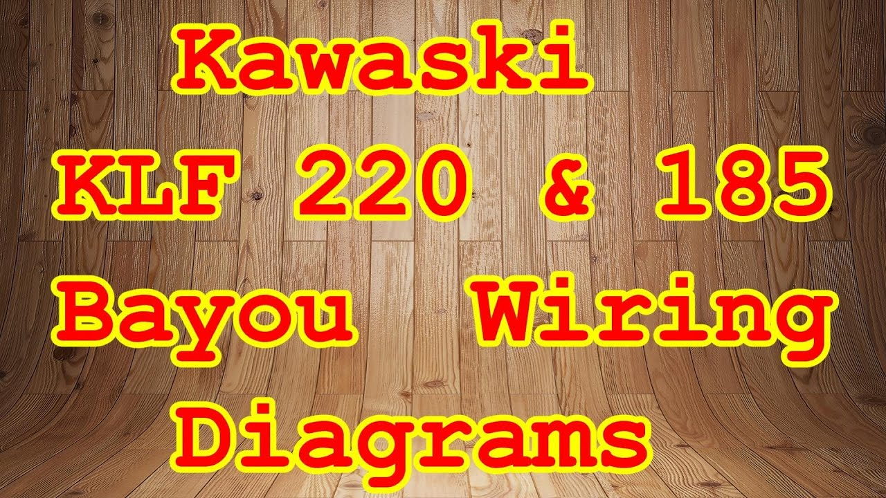 kawasaki klf 300c wiring diagram pioneer car stereo colors 185 220 bayou diagrams youtube