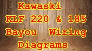 KLF 185 & 220 Bayou Wiring Diagrams - YouTube | Bayou 220 Electrical Wiring Diagram |  | YouTube