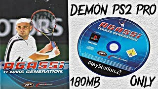 Damon PS2 Pro   Agassi Tennis Generation Gameplay   180 MB Only