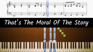 How to play piano part of Moral Of The Story by Ashe