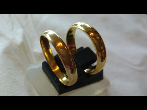 Gold Ring 24K (99% Pure Gold) Handmade Rattan Rack Models Using the Manual Tool