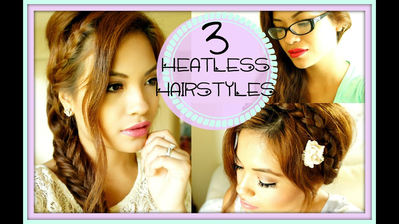 Back To School 3 Cute Easy Heatless Hairstyles