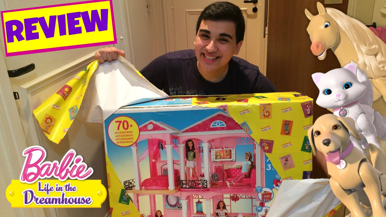 Review casa da barbie dreamhouse youtube - Supercasa de barbie ...
