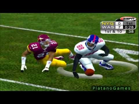 NFL 2012 MNF Week 13 - New York Giants (7-4) vs Washington Redskins (5-6) - 1st Qrt - NFL 2K5 - HD