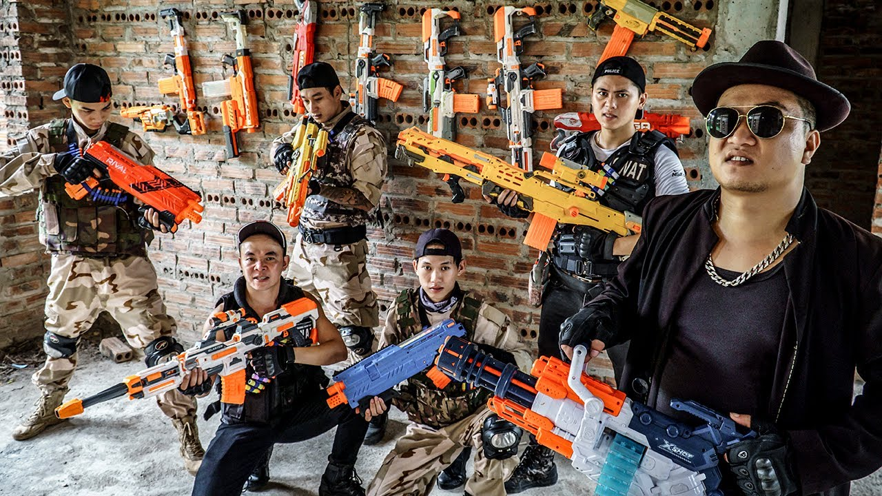 LTT Nerf War : Police Patrol SEAL X Warriors Nerf Guns Fight Dr Ken Crazy Raid Base To Steal Guns