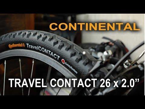 Покрышка Continental Travel Contact 26х2.0, 180TPI,  Reflex антипрокол - обзор от Velomoda