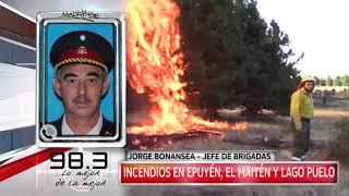 Info FM 98.3: Parte actual de los incendios en Epuyén, El Maitén y Lago Puelo