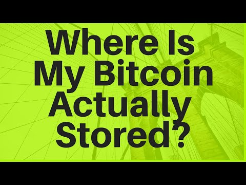 Where Is My Bitcoin Actually Stored? (Hardware Wallets, Etc)