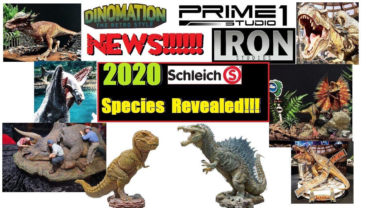 New Species 2020.News Schleichs 2020 Prehistoric Species Revealed New Prime 1 Jurassic Statues