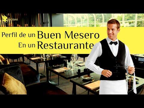 Perfil De Un Buen Mesero Para Restaurante