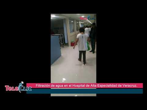 Filtraci�n de agua en el Hospital de Alta Especialidad de Veracruz